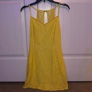 Yellow flower pattern dress